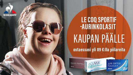 Osta piilareita yli 89 eurolla, saat Le Coq Sportif -aurinkolasit kaupan päälle