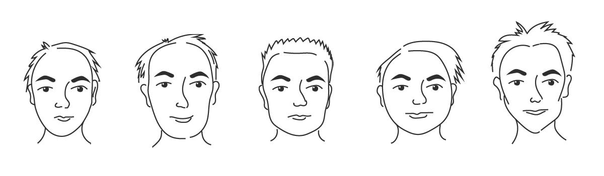 Miesten kasvojen muodot