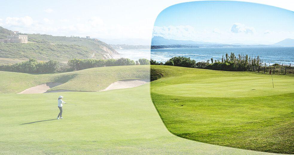 Bollén golf-aurinkolasilinssit parantavat kontrastinäköä ja tekevät pelaamisesta mukavampaa.