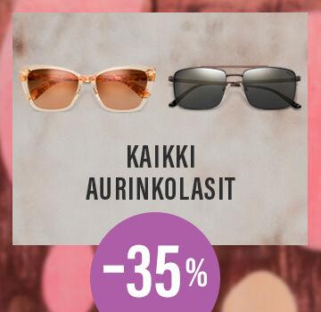 Kaikki aurinkolasit -35 %