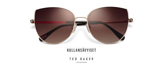 Kullansävyiset Ted Baker -aurinkolasit