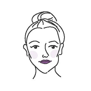 Sydämenmuotoiset kasvot naisella
