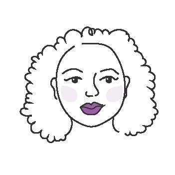 Pyöreät kasvot naisella