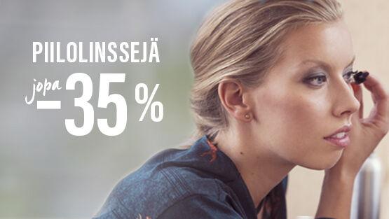 Piilolinssejä jopa -35 %