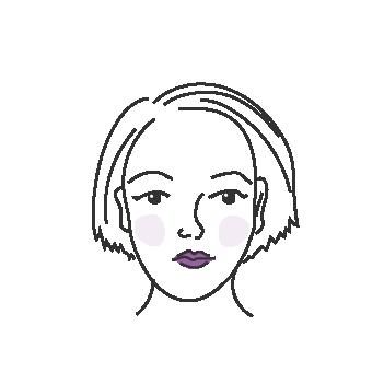 Ovaalit kasvot naisella