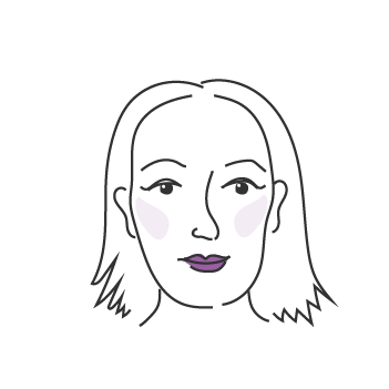 Pitkät kasvot naisella