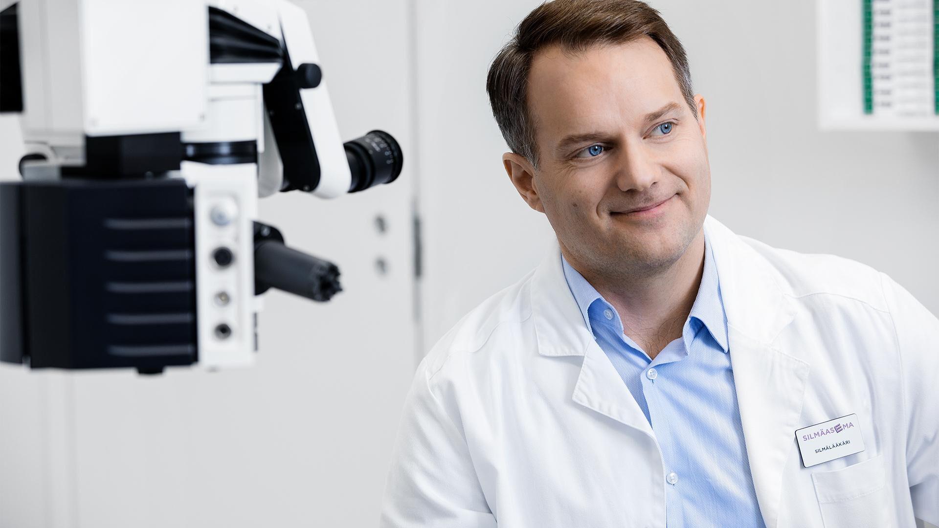 40-vuotiaan näöntarkastukseen kuuluu myös glaukoomatutkimus